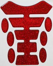 Metal Flake Red Resin Domed Resin Tank Pad K1 + 6 Oval Pad Protectors