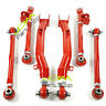 RED Rear Lateral Links & Trailing Link Arms for Subaru Impreza WRX Sti 02-07