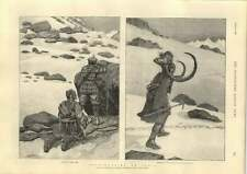 1889 Shooting The Ibex In India And Bringing Home The Head