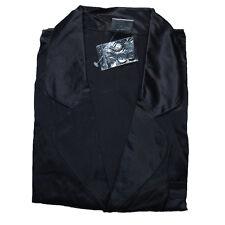 100% Pure Silk Men's Sleepwear Short Sleeve Shirt And Boxer Brief Size S Black