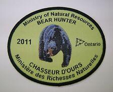 2011 ONTARIO MNR BEAR HUNTING PATCH moose,deer,elk,hunter,canadian,patches,badge