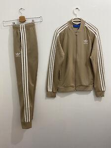 Adidas Originals Superstar Tracksuit Tan White, Jacket Size S Pants Size XS