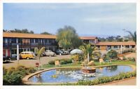 San Diego CA~Motel Southward Ho~Pacific Highway~1940s Cars~Woody Station Wagon