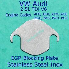 EGR Valve blanking block off plate V6 2.5 TDi Volkswagen Audi Skoda Stainless