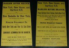 RARE Antique 1881 New York New Haven & Hartford Railroad Harlem River Ad Vtg RR