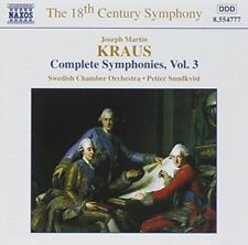 Kraus, Joseph Martin/sundkvist-samtliga symfonier, vol. 3 CD NEUF