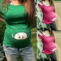 Women Maternity Clothes Funny Print Pregnant T-Shirt Tee Nursing Tops Blouse  ZY