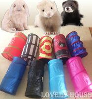 Foldable Pet Rabbit Ferret Guinea Pig Fun Tunnel Small Animals Training Toys