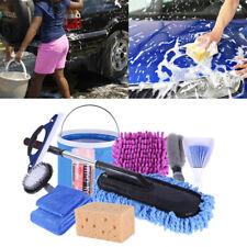 Autopflege Set faltbarer Eimer Autowäsche Auto Reinigungsset 11 tlg Autowaschset