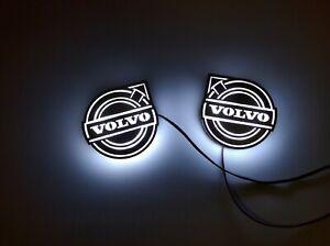 2pcs VOLVO LED Mini Logo, stainless steel, 24v light, left and right, NEW!