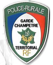Ecusson PVC POLICE RURALE GARDE CHAMPETRE TERRITORIAL