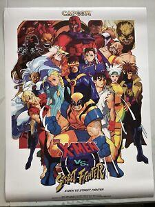 "X-Men Vs Street Fighter Poster 18x24"" capcom cps2 arcade wall Print Marvel"