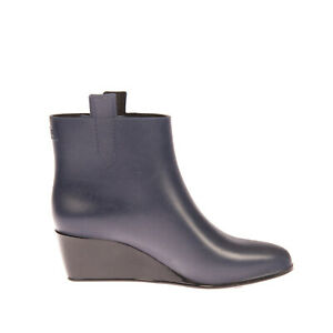 RRP €145 KARTELL Rubber Ankle Boots Mismatch Size L36 R37 Wedge Made in Italy