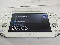 SONY PS Vita Console System PCH-1000 ZA02 WHITE Wi-fi Model F/S SAL JAPAN USED