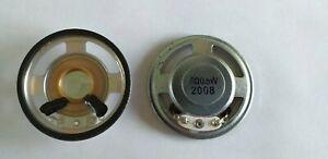 2 x Smaller extra Thin Loud New Speaker 0.5W, 8 Ohm (size 45mm Dia x 10mm)