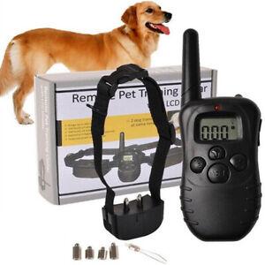 300M Electric Shock Collar Pet Dog Training Remote Control Anti-Barking Bark