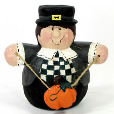 "Midwest of Cannon Falls Pilgrim Pumpkin 4.75"" Figurine Thanksgiving Eddie Walker"