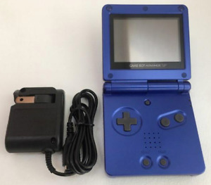 Nintendo Game Boy Advance SP Cobalt Blue AGS 001 Tested Working + Charger OEM