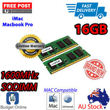 Crucial Mac Memory 16GB Kit DDR3 RAM SODIMM 1600MHz For Apple Macbook Pro iMac