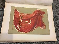 Egyptian Standard Flag of Sinkat 12 X 16 Antique Print
