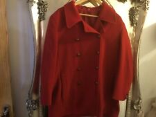 Lakeland size 18 red double brested jacket coat winter warm wool