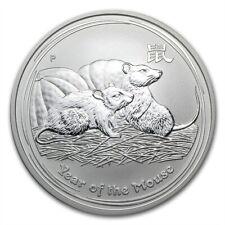 Perth Mint Australia $1 Dollar Lunar Series II Mouse 2008 1 oz .999 Silver Coin