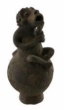 Jarre Mambila figurative 24cm Gourde en Terre Cuite Cameroun Art Africain 16858