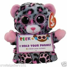 TY Beanie Babies Trixi Leopard Phone Holder Peek-A-Boos Screen Cleaner Bottom