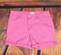 Cato Shorts Pink Denim Stretch Roll hem woman's size Stretch woman's 12