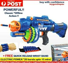 TOY GUN Kids Safe Soft Foam Toy Gun Blaze Storm Battery Power Dart Gun Electric