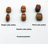 Single Cake Deadeye Pulley Accessories Wooden Ship Model Kit - 10 PCS