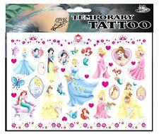 PRINCESS HEARTS TATTOO SHEET Girls Kids Disney Birthday Party Gift Bag Fillers