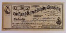 1864 LIBERTY GOLD AND SILVER MINING COMPANY Stock Certificate - Virginia, N.T.