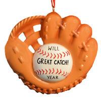 Baseball Mitt Personalized Christmas Tree Ornament