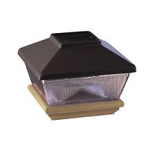 4x4 Black Solar LED Post Cap with Pressure-Treated Base