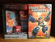 Transformers Universe G1 25th Anniversary Optimus Prime With Comic & DVD MISB