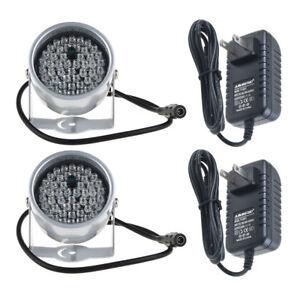 2pcs 48LED & 12V Power IR Infrared Night Vision Light for Security CCTV Camera