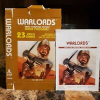 Warlords Box & Manual NICE Atari 2600