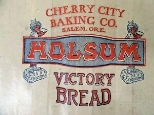 1930's era Cherry City Baking HOLSUM VICTORY BREAD Wax Wrapper SALEM OREGON wb