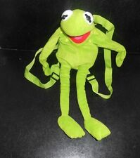 "Disney - The Muppets KERMIT THE FROG 16"" Plush Backpack Bag - Jim Henson  (1d)"