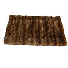 Glacier Wear Wild Mink Fur Throw Blanket mnk300
