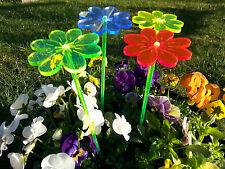 Selbstleuchtender Sonnenfänger / Motiv: Blumen 4er Set Ø75mm
