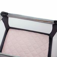 Carter's Quilted Playard Sheet, Solid pink   , One Size