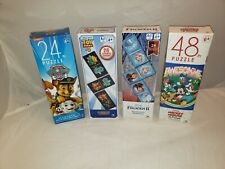 Puzzle Lot of 2 - Mickey Mouse - Paw Patrol - Dominoes - Frozen II - Toy Story 4