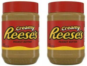 2 Reese's Creamy Peanut Butter Jars 18 oz Each