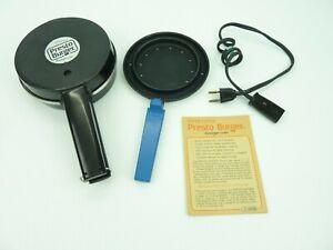 Presto Burger Hamburger Patty Cooker 05/MB1 Electric Sandwich Maker Vintage