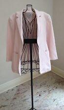 Oscar de la Renta Women's Woman's Pink Linen Rayon Jacket 6P