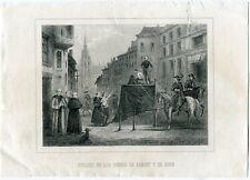 Suplicio de los condes de Egmont y de Horn grabado 1856