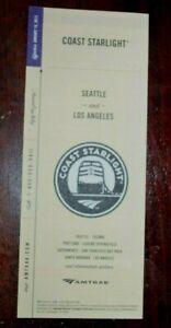 AMTRAK Coast Starlight Seattle & Los Angeles Timetable January 14, 2013