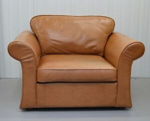 LUXURY LAURA ASHLEY TAN LEATHER ARMCHAIR / MATCHING SOFA AVAILABLE